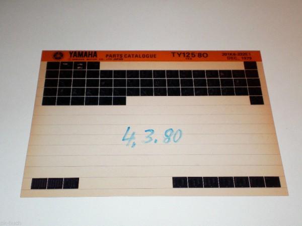 Microfich Ersatzteilkatalog Yamaha TY 125 ab 1980