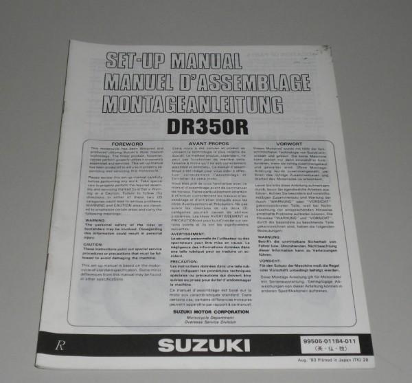 Montageanleitung Suzuki DR 350 R Stand 08/1993