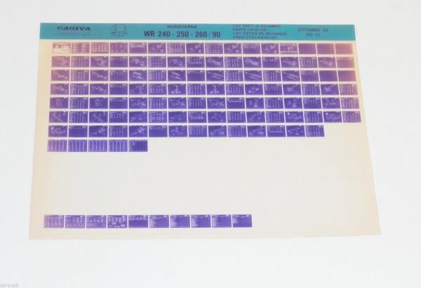 Microfich Teilekatalog Husqvarna WR 240 - 250 - 260 Modell 1990 - Stand 10/1989!
