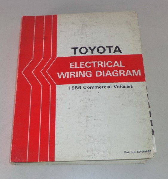 Workshop Manual electrical wiring diagram Toyota 1989 Commercial Vehicles