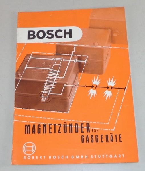 Handbuch Bosch Magnetzünder für Gasgeräte Stand 07/1955
