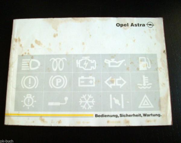 Betriebsanleitung Opel Astra F Stand Januar 1992