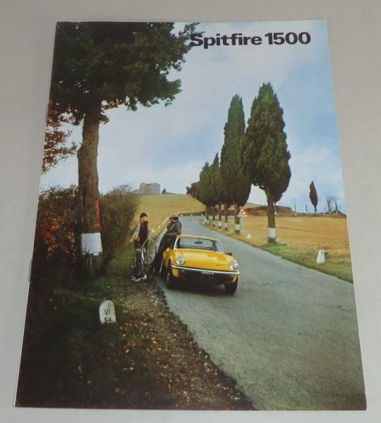 Prospekt Triumph Spitfire 1500 Stand 03/1978