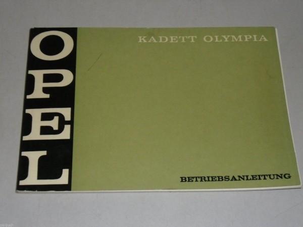Betriebsanleitung Handbuch Opel Kadett B Olympia, Stand 04/1970