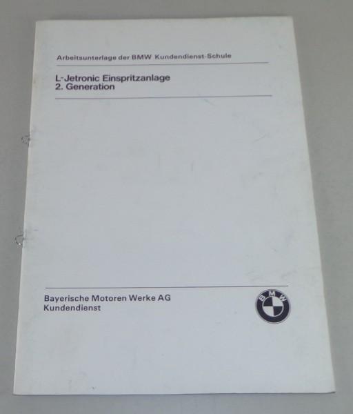 Schulungsunterlage Seminar BMW 6er E24 / 7er E23 L-Jetronic Einspritzung ab 1978