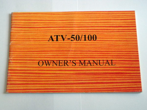 Betriebsanleitung / Owners Manual Aeon Cobra 50 / 100 ATV / Quad