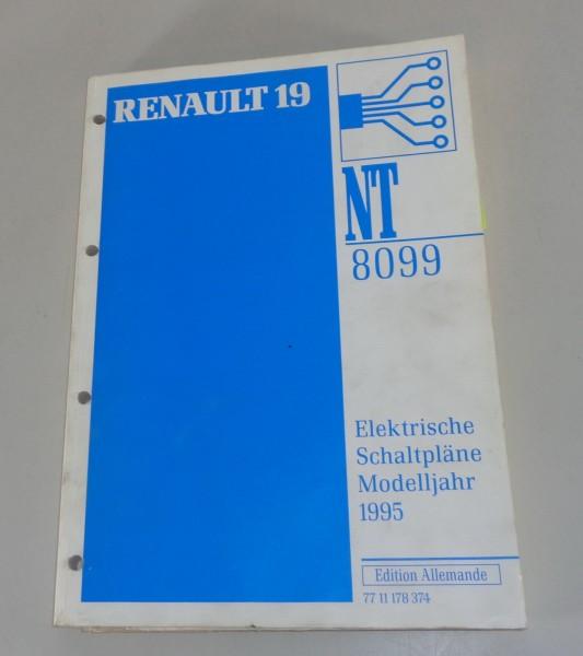 Werkstatthandbuch Elektrik / elektrische Schaltpläne Renault 19 Modelljahr 1995