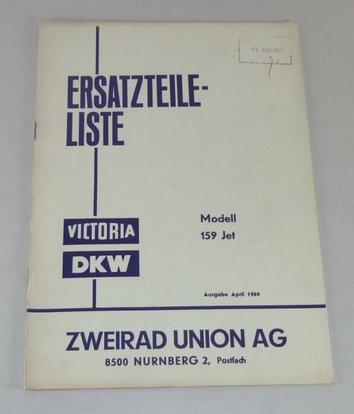 Teilekatalog / Ersatzteilliste Victoria / DKW Modell 159 Jet Stand 04/1969