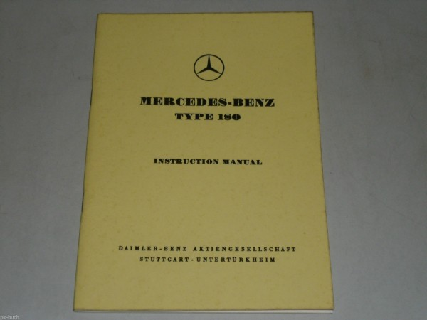 Betriebsanleitung Instruction Manual Mercedes Benz W 120 Type 180, 03/1963