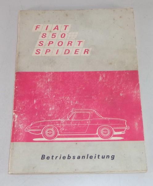 Betriebsanleitung / Handbuch Fiat 850 Sport Spider Stand 03/1969