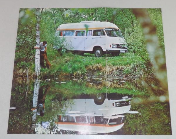 Prospekt Hymermobil 501 Wohnmobil auf Basis Mercedes L 206 / L 207 Stand 1976