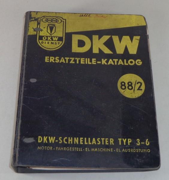 Teilekatalog / Ersatzteilliste DKW Schnellaster 3=6 Stand 09/1955