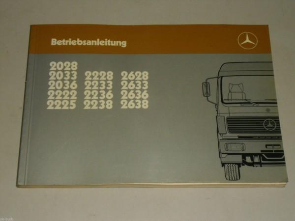 Betriebsanleitung Handbuch Mercedes Benz LKW NG 80, Stand 09/1985