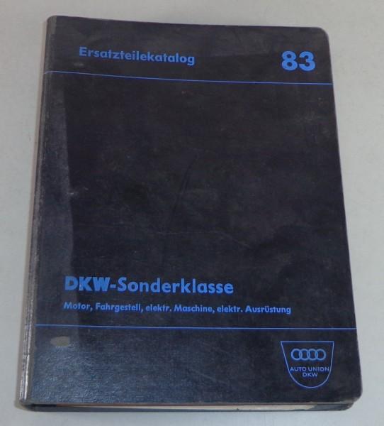 Teilekatalog DKW 3=6 F93 Sonderklasse Stand 10/1963
