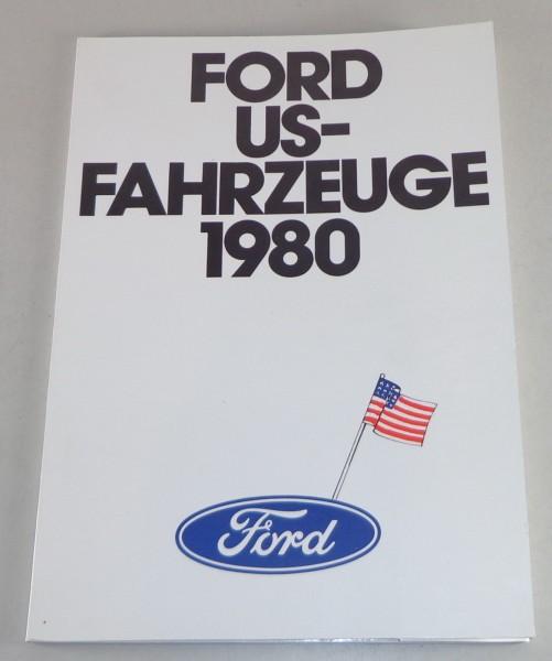 Prospektmappe Ford Mustang, T-Bird etc. Stand 1980