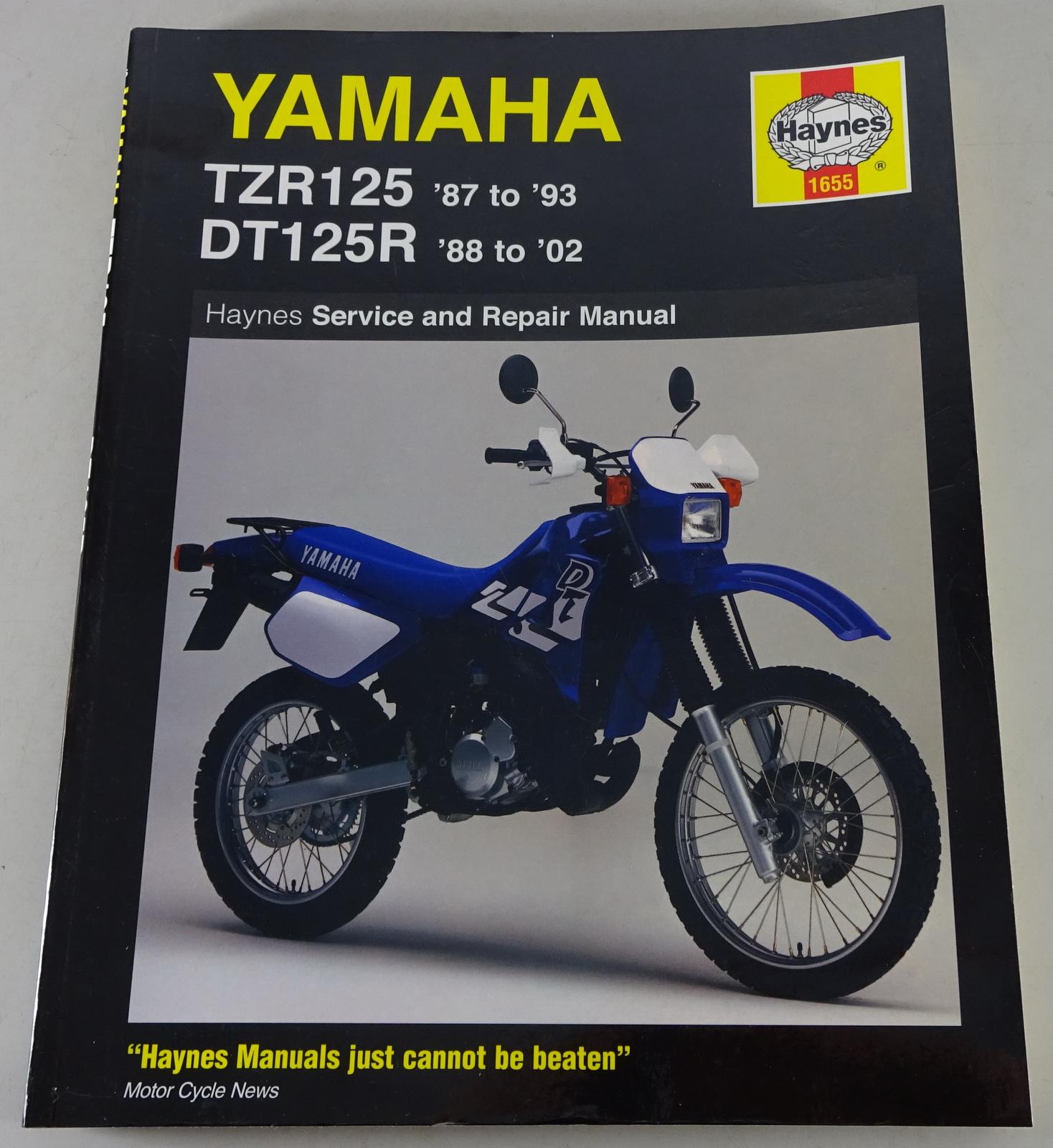 Repair Manual Service Manual Yamaha Tzr 125 Dt 125r 1987 2002 Pk Buch