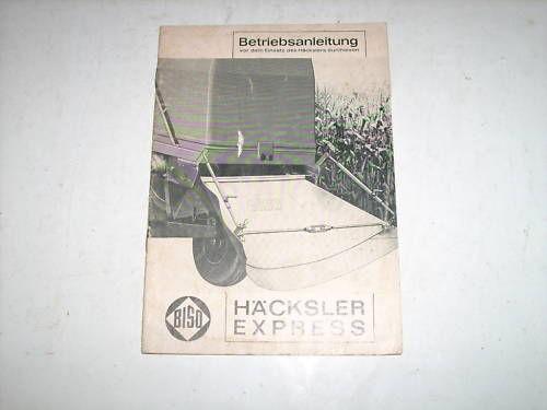 Betriebsanleitung Häcksler Express Biso