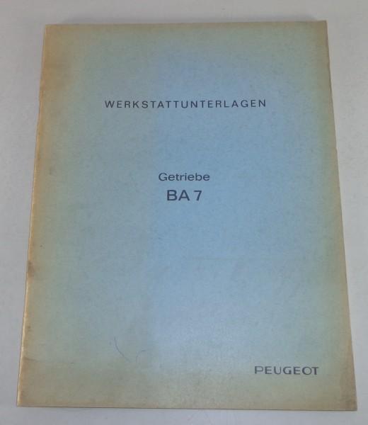 Werkstatthandbuch Peugeot 404 Getriebe BA7 Stand 12/1967