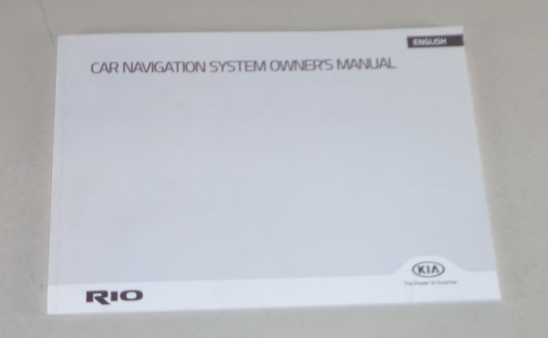 Owner's Manual / Handbook Kia Rio Car Navigation