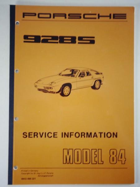 Workshop Manual    Service Information Porsche 928s Model