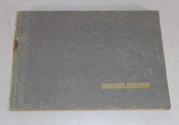 Owner's Manual / Handbook Rover V8 3,5l Stand 1985