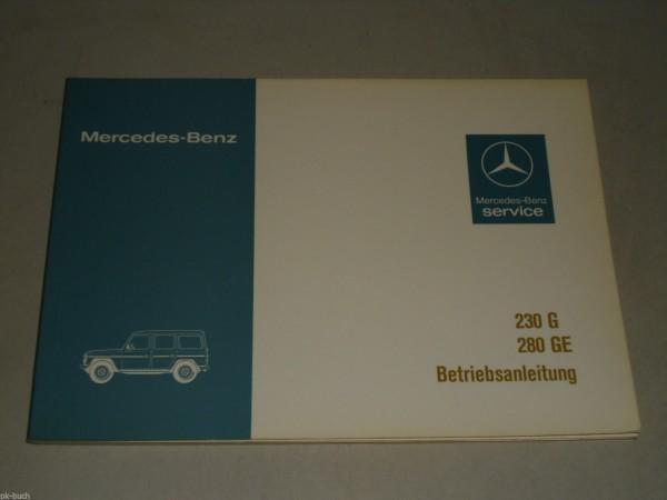 Betriebsanleitung Handbuch Mercedes Benz G-Modell G-Klasse W 460, Stand 07/1979