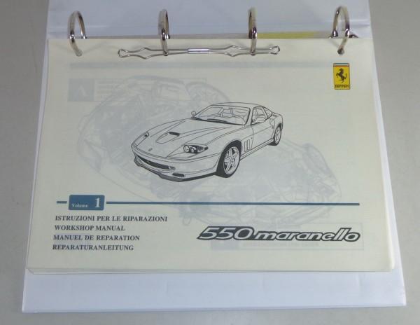 Werkstatthandbuch / Reparaturanleitung Ferrari 550 Maranello Coupe 1996-2001