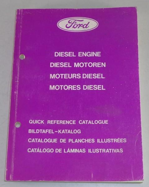Teilekatalog / Bildteilekatalog Ford Diesel Motor 2,4l für Transit, Granada 1980