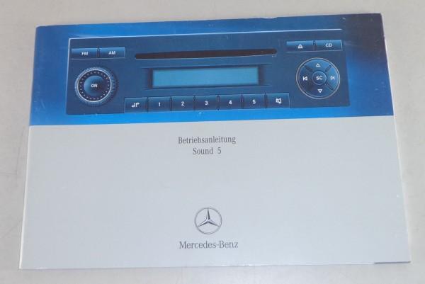 Betriebsanleitung Mercedes Benz Radio Sound 5 Stand 01/2006