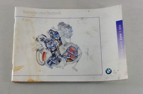 Betriebsanleitung BMW Motorrad F 650 Stand 09/1995