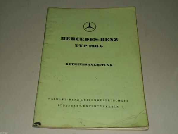 Betriebsanleitung Mercedes Benz W121 Ponton 190 b 190b Stand 7/1959
