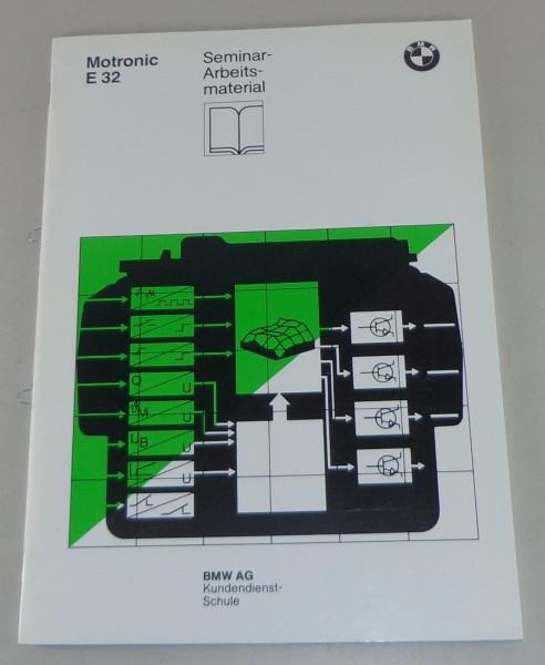 Schulungsunterlage Seminar BMW 7er E32 Motronic Digitale Motorelektronik M1.1