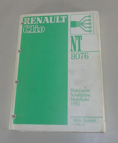 Werkstatthandbuch Elektrik, Elektrische Schaltpläne Renault Clio Modelljahr 1992