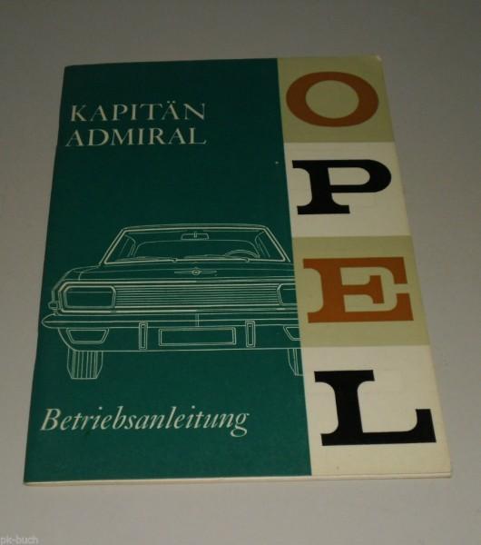 Betriebsanleitung Handbuch Opel Admiral A / Kapitän A (KAD), Stand 11/1964