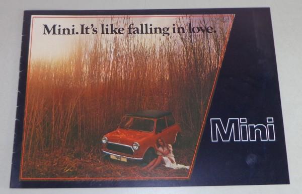 Prospekt Austin Mini 1000 + Special Stand 08/1978