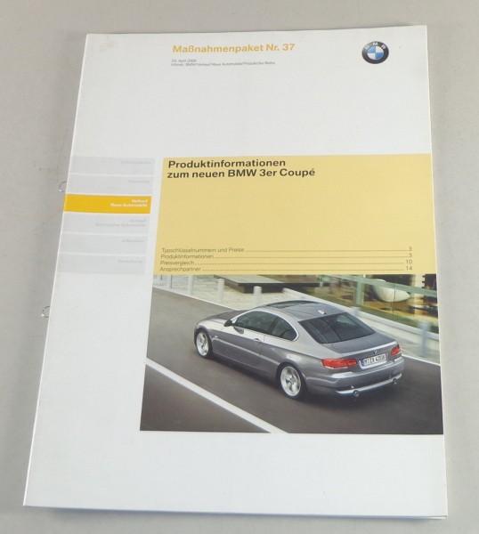 Schulungsunterlage BMW 3er Coupe 325i / 335i E93 Produktinfo, Vorstellung 4/2006
