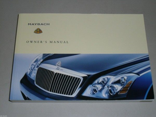 Betriebsanleitung Owner\'s Manual Maybach 57, Stand 03/2002