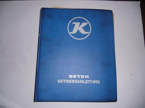 Werkstatthandbuch Elektrik Pläne Setra 24 LP Stand 10/1984