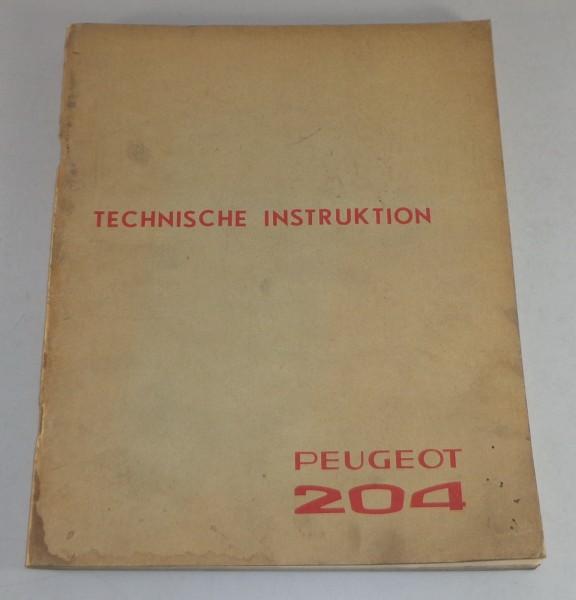Technische Daten + Instruktionen Peugeot 204 Stand 05/1965