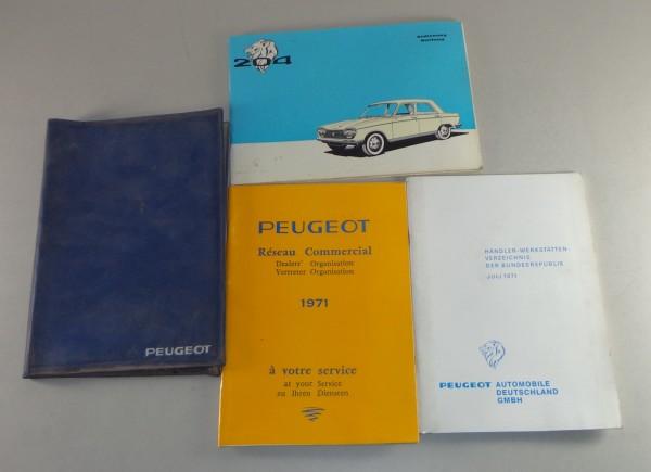Bordmappe + Betriebsanleitung Peugeot 204 Stand 1971