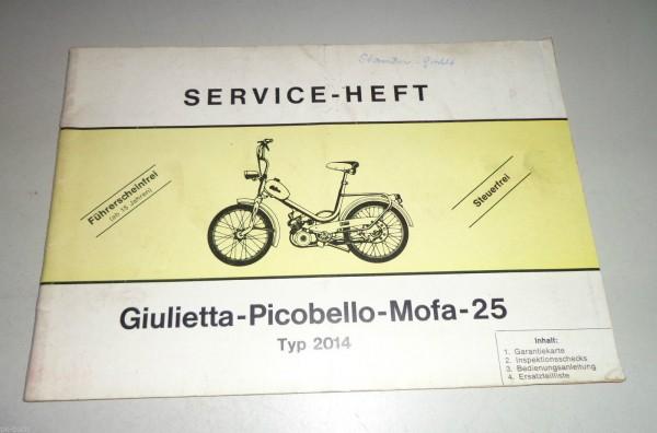 Bedienungsanleitung und Teilekatalog Giulietta Picobello Mofa 25 Typ 2014