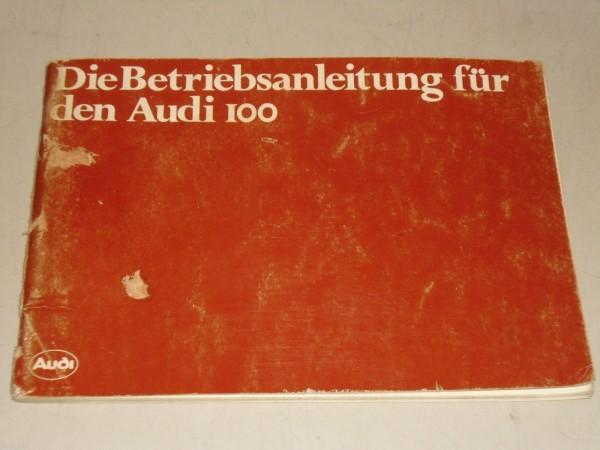 Betriebsanleitung Handbuch Audi 100 C 2 Typ 43, Stand 08/1979