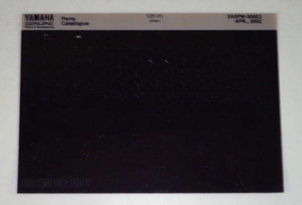 Microfich Parts Catalogue / Ersatzteilkatalog Yamaha YZF - R1 Stand 04/02