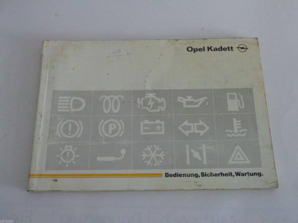 Betriebsanleitung Handbuch Opel Kadett E Benzin + Diesel Stand 03/1991