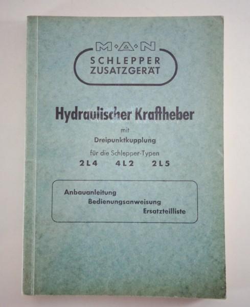 Betriebsanleitung und Teilekatalog MAN Hydraulischer Kraftheber 2L4 / 4L2 / 2L5
