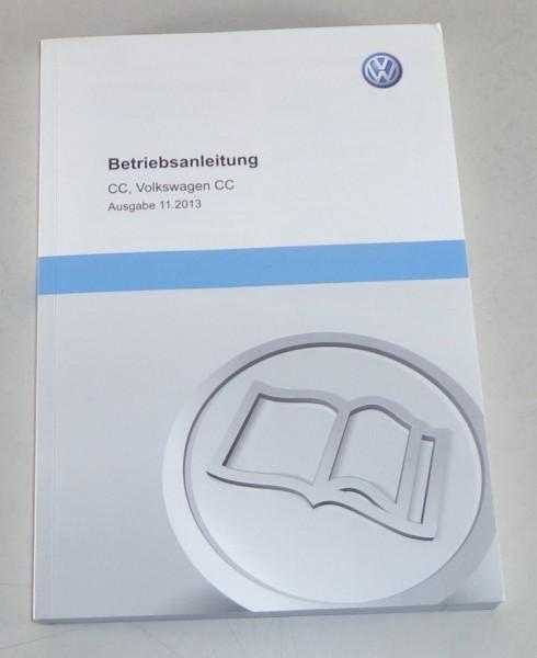 Betriebsanleitung / Handbuch VW Passat CC / Volkswagen CC Typ 35 Stand 11/2013